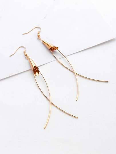 Minimalist Geometric Drop Earrings