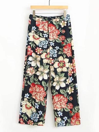 Floral Print Loose Pants