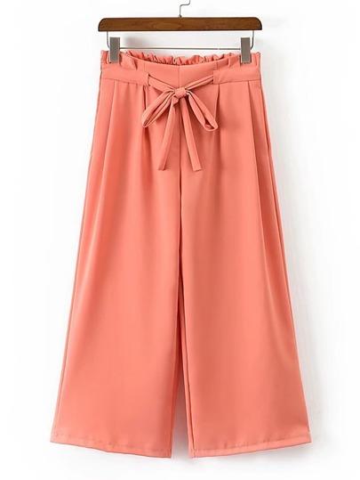 Pantalones de pernera amplia con cordón