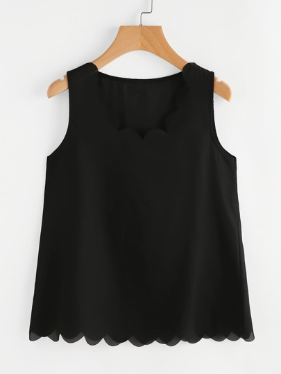 Scallop Edge Tank Top