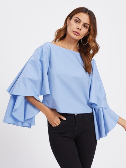 Exaggerate Layered Sleeve Top