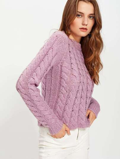 Pull-over en tricot à câble