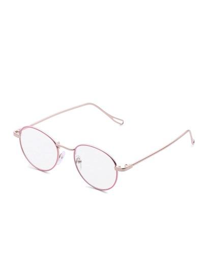 Round Lens Metal Frame Glasses