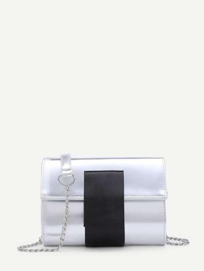 Zwei Ton PU Kette Tasche