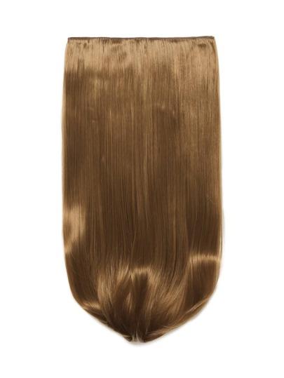 Mix Auburn Clip в прямом длинном наращивании волос