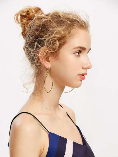 Gold überzogene Ohrringe