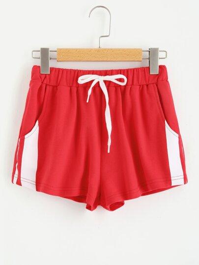 Stripe Print Sweat Shorts
