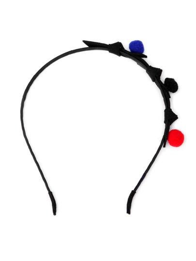 Stirnband mit Pompons und Knoten