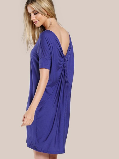Back Twist Oversized Dress ROYAL