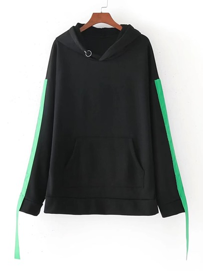 Tape Side Hooded Sweatshirt