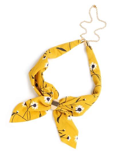 Daisy Print Chain Linked Neckerchief