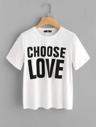 Camiseta con letras