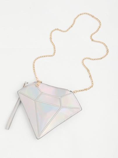 Geometric Design Iridescent Bag