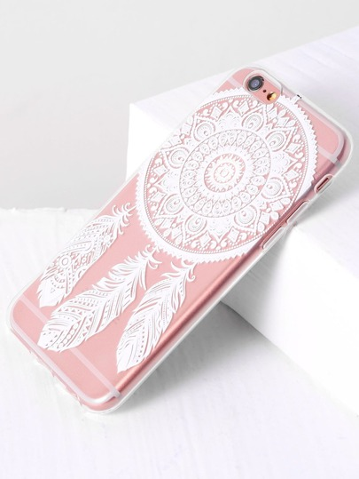 Funda para iphone con estampado de pluma