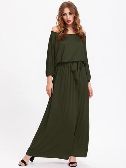 Bardot Self Tie Full Length Dress