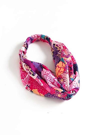 Stirnband mit Blumenmuster