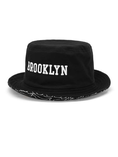 Chapeau de seau brodé du slogan