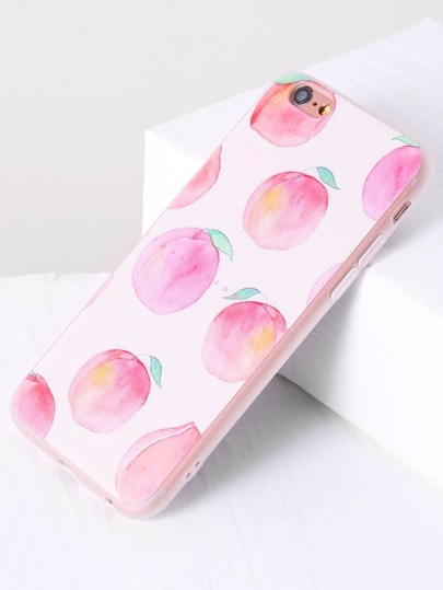 Pink Peach Print iPhone Case