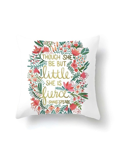 Slogan Print Pillowcase Cover