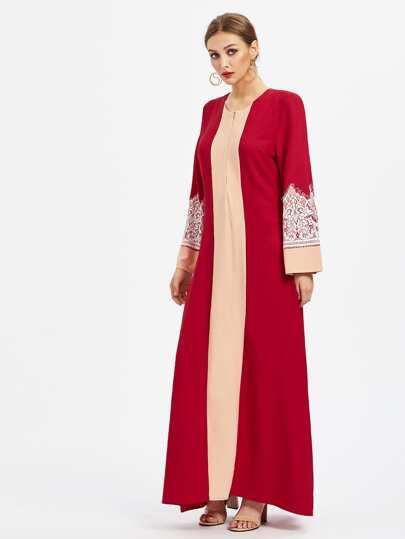Abaya Kleid mit Spitzen