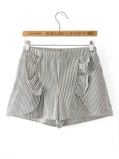 Pantaloncini di jeans a strisce verticale