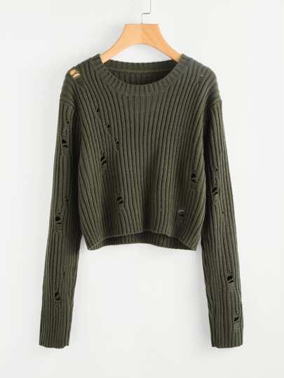 Maglione in maglia a coste