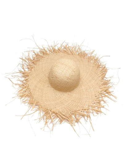 Raw Edge Straw Beach Hat