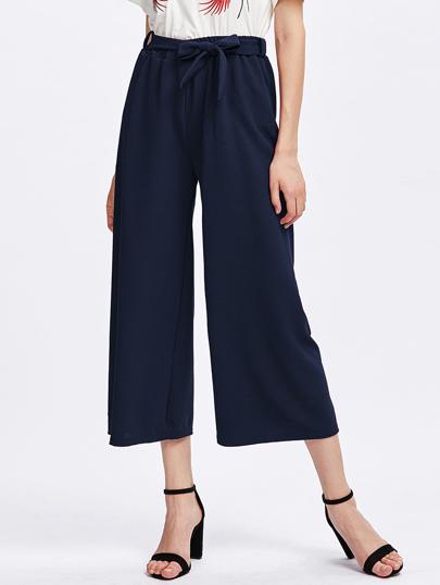 Pantalones con pernera amplia con cordón