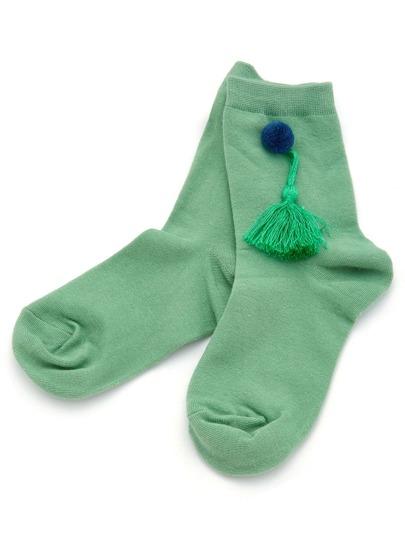 Socquettes de cheville avec des franges