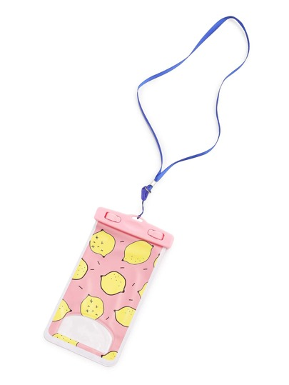 Fruit Print Waterproof Phone Pouch