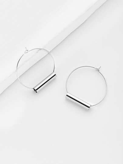 Minimalist Geometric Design Hoop Earrings