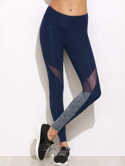 Leggings color-block à maille
