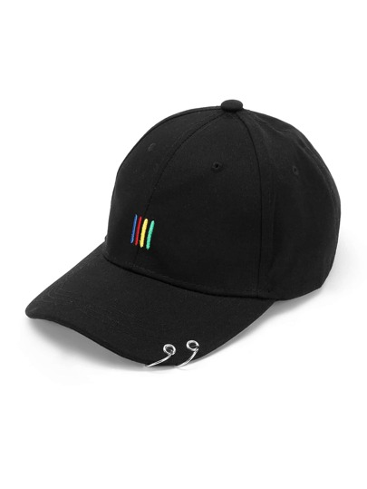 Double Ring Embroidery Detail Baseball Cap