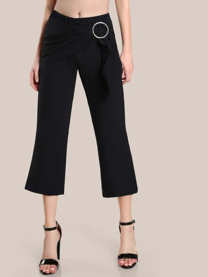 O Ring Dress Pants BLACK