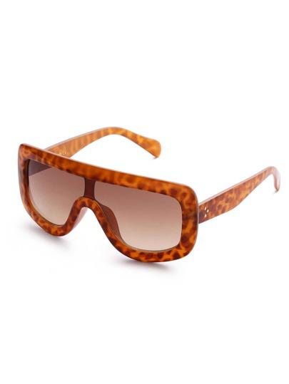 Leopard Oversized Visor Sunglasses