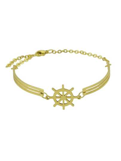 Golden Rudder With Hollowed Out Women\'S Bracelet
