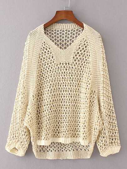 Hollow Out High Low Sweater