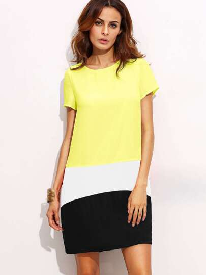 Color Block Cut And Sew Dress