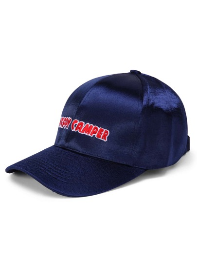 Slogan Embroidery Satin Baseball Cap