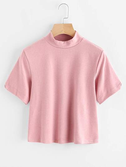 High Neck Basic Tee