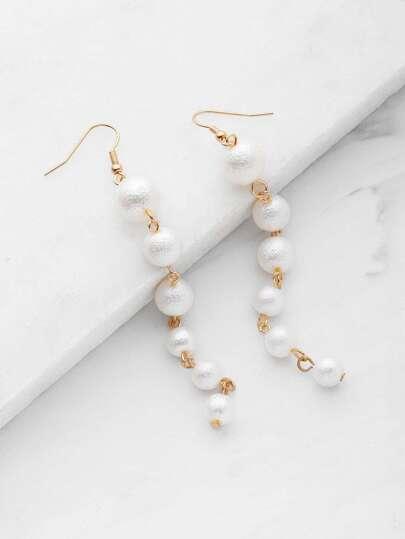 Faux Pearl Design Drop Earrings