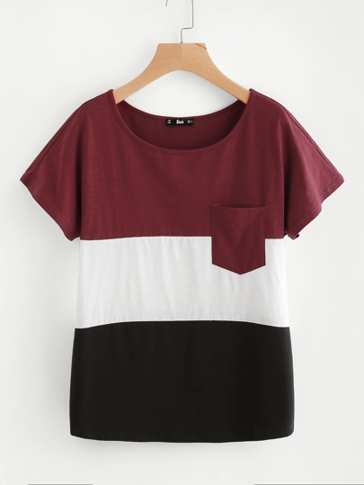 Cut And Sew Pocket Tee
