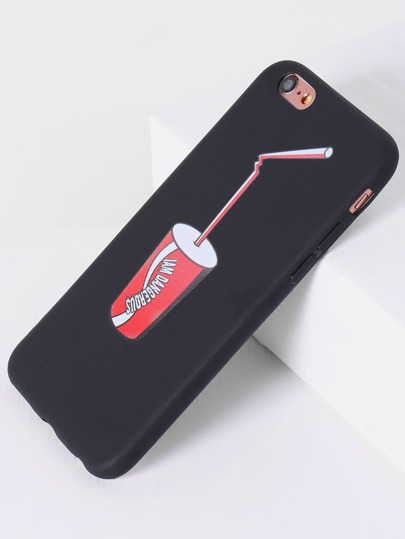 Cover per iphone con stampa di soda - nero