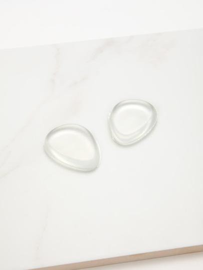 2 piezas de goma de maquillaje transparente de gel de silicona
