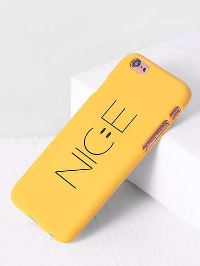 Funda para iphone con estampado de letra - amarillo