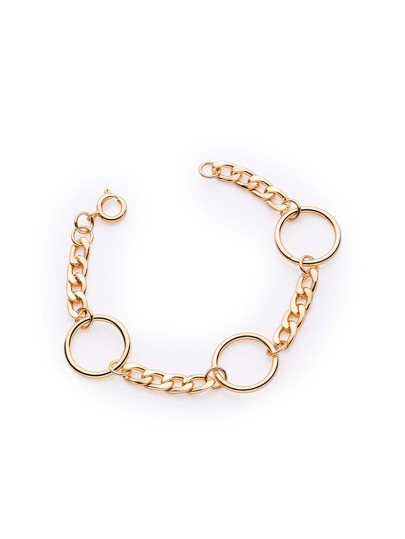 Minimalist Ring Design Chain Bracelet