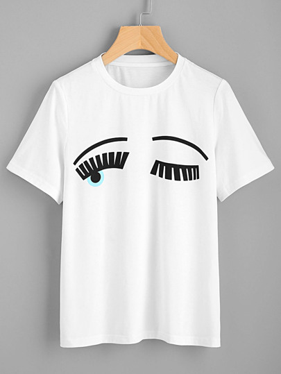 """T-shirt con stampa di """"wink eyes"""""""