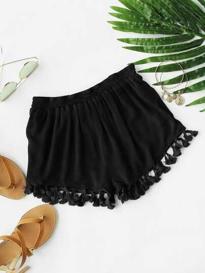 Shorts avec des franges