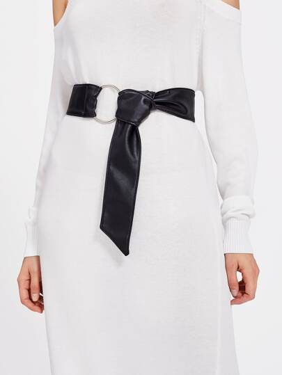 Ring Detail Knot Waist Belt