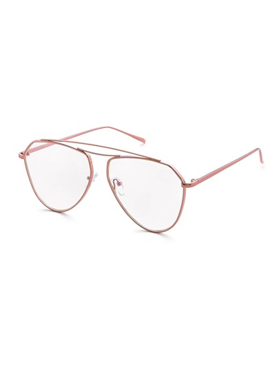 Double Top Bar Clear Lens Glasses